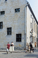 Filmaufnahmen in Riga, Lettland, Europa, Unesco-Weltkulturerbe