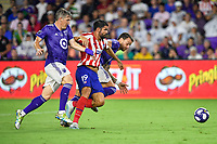 Orlando, FL - Wednesday July 31, 2019:  Bastian Schweinsteiger #31, Diego Costa #19, Leandro Gonzalez Pirez #5 during an Major League Soccer (MLS) All-Star match between the MLS All-Stars and Atletico Madrid at Exploria Stadium.