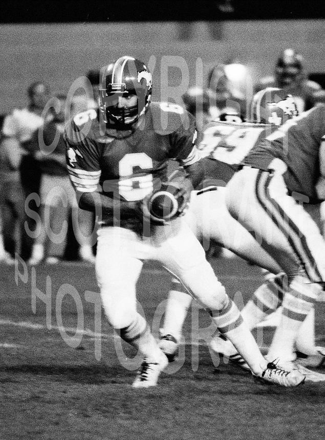 Gerry Dattilio Calgary Stampeders quarterback 1982 Copyright photograph Scott Grant