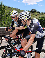 July 9th 2021. Carcassonne, Languedoc, France;   BARBERO Carlos (ESP) of TEAM QHUBEKA ASSOS, WALSCHEID Maximilian Richard (GER) of TEAM QHUBEKA NEXTHASH  during stage 13 of the 108th edition of the 2021 Tour de France cycling race, a stage of 219,9 kms between Nimes and Carcassonne.