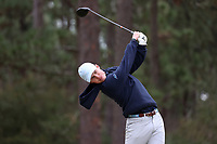 PINEHURST, NC - MARCH 02: Peter Fountain of the University of North Carolina tees off on the fifth hole at Pinehurst No. 2 on March 02, 2021 in Pinehurst, North Carolina.