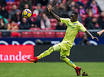 Amath Ndiaye Diedhiou of Getafe CF in action during the La Liga 2017-18 match between Atletico de Madrid and Getafe CF at Wanda Metropolitano on January 06 2018 in Madrid, Spain. Photo by Diego Gonzalez / Power Sport Images