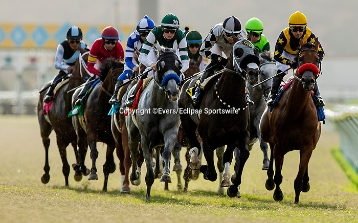 JULY 17, 2021: Ippodamia's Girl with Joe Bravo wins the Osunitas Stakesat Del Mar Fairgrounds in Del Mar, California on July 17, 2021. Evers/Eclipse Sportswire/CSM