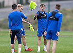 St Johnstone Training….19.08.20<br />Callum Hendry pictured with Michael O'Halloran, Ali McCann and Jamie McCart during training at McDiarmid Park this morning ahead of tomorrow's re-arranged game against Aberdeen.<br />Picture by Graeme Hart.<br />Copyright Perthshire Picture Agency<br />Tel: 01738 623350  Mobile: 07990 594431