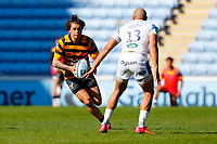 25th April 2021; Ricoh Arena, Coventry, West Midlands, England; English Premiership Rugby, Wasps versus Bath Rugby; Jacob Umaga of Wasps looks to beat Jonathan Joseph of Bath Rugby