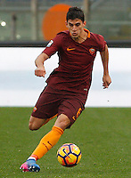Roma's Diego Perotti in action during the Italian Serie A football match between Roma and Napoli at Rome's Olympic stadium, 4 March 2017. <br /> UPDATE IMAGES PRESS/Riccardo De Luca