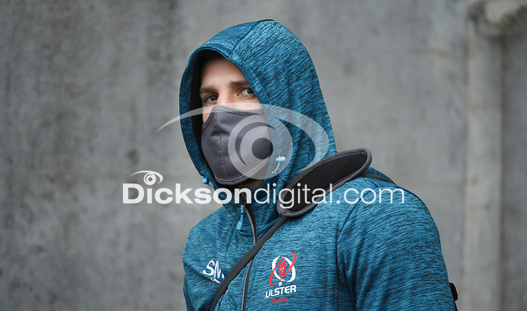 Saturday 5th September 2020 | PRO14 Semi-Final<br /> <br /> Stuart McCloskey arrives for the Guinness PRO14 Semi-Final between Edinburgh and Ulster at the BT Murrayfield Stadium Edinburgh, Scotland. Photo by David Gibson / Dicksondigital