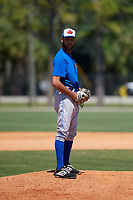 Toronto Blue Jays Kelyn Jose (73) during a Minor League Spring Training game against the Detroit Tigers on March 22, 2019 at the TigerTown Complex in Lakeland, Florida.  (Mike Janes/Four Seam Images)