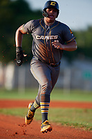 Xavier Isaac (6) during the WWBA World Championship at Lee County Player Development Complex on October 9, 2020 in Fort Myers, Florida.  Xavier Isaac, a resident of Kernersville, North Carolina who attends East Forsyth High School, is committed to Florida.  (Mike Janes/Four Seam Images)