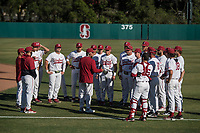 STANFORD, CA - MAY 27: David Esquer, team before a game between Oregon State University and Stanford Baseball at Sunken Diamond on May 27, 2021 in Stanford, California.