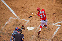 28 July 2013: Washington Nationals outfielder Bryce Harper in action against the New York Mets at Nationals Park in Washington, DC. The Nationals defeated the Mets 14-1. Mandatory Credit: Ed Wolfstein Photo *** RAW (NEF) Image File Available ***