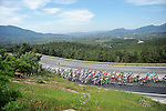 The peloton amidst the greenery during Stage 7 of the 2015 Presidential Tour of Turkey running 166km from Selcuk to Izmir. 2nd May 2015.<br /> Photo: Tour of Turkey/Mario Stiehl/www.newsfile.ie