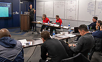 Kansas City, KS - Tuesday, January 7, 2020 : LAFC assistant coach Ante Razov gives a presentation during the U.S. Soccer Pro License Meeting at the National Development Center in Kansas City, Kansas.