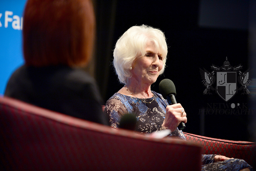"MIAMI, FL - FEBRUARY 06: Radio host/author Diane Rehm in conversation with Dr. Cristina Pozo-Kaderman (L) about Diane Rehm's new book ""When My Time Comes"" Presented in collaboration with Miami Book Fair and Books and Books at Miami Dade College-Wolfson Auditorium on February 6, 2020 in Miami, Florida.   ( Photo by Johnny Louis / jlnphotography.com )"