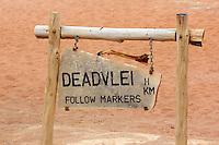 Sign to Deadvlei, Namibia