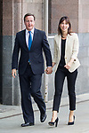 © Joel Goodman - 07973 332324  . 02/10/2011 . Manchester, UK . DAVID CAMERON and SAMANTHA CAMERON arrive at the 2011 Conservative Party Conference at the Manchester Central Convention Centre (formerly GMex) . Photo credit: Joel Goodman