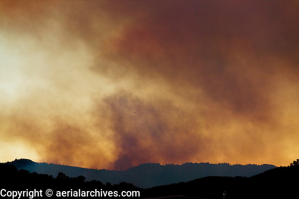 wildfire Lake County, California, firefighting airtanker is visible in high resolution file