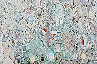 Magic Garden detail, a mosaiced folk art environment by Isaiah Zagar, Philadelphia, Pennsylvania, USA
