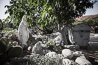 Sculpture of the Virgin Mary are placed in many corners of the Medjugorjan area.<br /> Bijakovici, Medjugorje, Bosnia and Herzegovina.