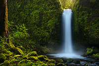 A simplified presentation of one of Oregon's most serene waterfalls.<br /> <br /> ARTIST CHOICE: 24x36 Lumachrome/Acylic