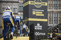 Team Sport Vlaanderen Baloise pre race team presentation<br /> <br /> 103rd Ronde van Vlaanderen 2019<br /> One day race from Antwerp to Oudenaarde (BEL/270km)<br /> <br /> ©kramon