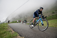 a scarred Miguel Angel Lopez (COL/Movistar) descending the Col de la Colombière (1618 m)<br /> <br /> Stage 8 from Oyonnax to Le Grand-Bornand (151km)<br /> 108th Tour de France 2021 (2.UWT)<br /> <br /> ©kramon