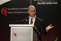Montreal, CANADA - Dec 1st-  Chuck Magro, President & CEO of Agrium Inc., delivers a speech to the Canadian Club of Montreal, December 1st 2014.<br /> <br /> Photo : Agence Quebec Presse - Pierre Roussel