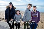 Enjoying a stroll in Ballyheigue beach on Saturday, l to r: Kelly, Freddie, Seth and Luke O'Donnell Conde.