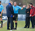 29/01/2011   Copyright  Pic : James Stewart.sct_jsp028_st_mirren_v_dundee_utd  .:: KILMARNOCK MANAGER MIXU PAATELAINEN IS THREATENED WITH EXPULSION TO THE STAND BY REFEREE BRIAN WINTER ::.James Stewart Photography 19 Carronlea Drive, Falkirk. FK2 8DN      Vat Reg No. 607 6932 25.Telephone      : +44 (0)1324 570291 .Mobile              : +44 (0)7721 416997.E-mail  :  jim@jspa.co.uk.If you require further information then contact Jim Stewart on any of the numbers above.........