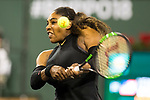 March 12, 2018: Serena Williams (USA) defeated by Venus Williams (USA) 6-3, 6-4 at the BNP Paribas Open played at the Indian Wells Tennis Garden in Indian Wells, California. ©Mal Taam/TennisClix/CSM