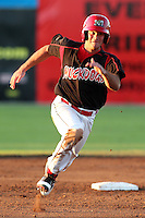 Batavia Muckdogs infielder Joey Bergman #3 runs the bases during a game against the Tri-City ValleyCats at Dwyer Stadium on July 15, 2011 in Batavia, New York.  Batavia defeated Tri-City 4-3.  (Mike Janes/Four Seam Images)