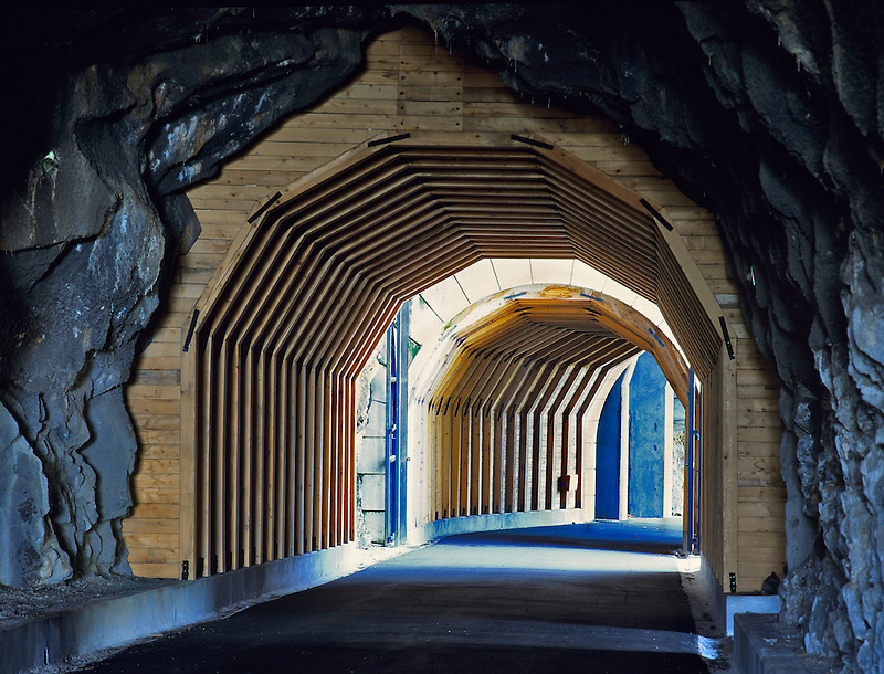 Twin Tunnels near Mosier, Oregon. Columbia River Gorge National Scenic Area
