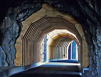 Twin Tunnels near Mosier, Oregon. Columbia River Gorge National Scenic Area