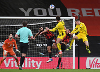 13th March 2021; Vitality Stadium, Bournemouth, Dorset, England; English Football League Championship Football, Bournemouth Athletic versus Barnsley; Carlton Morris of Barnsley heads home from the free kick to score in 80th minute 2-3