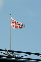 A sponsor's flag flies over Twickenham during the iRB Marriott London Sevens on Sunday 13th May 2012 (Photo by Rob Munro)