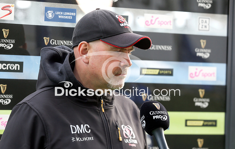 Friday 14th May 2021; Dan McFarland before the Guinness PRO14 Rainbow Cup Round 3 clash between Leinster and Ulster at The RDS Arena, Ballsbridge, Dublin, Ireland. Photo by John Dickson/Dicksondigital