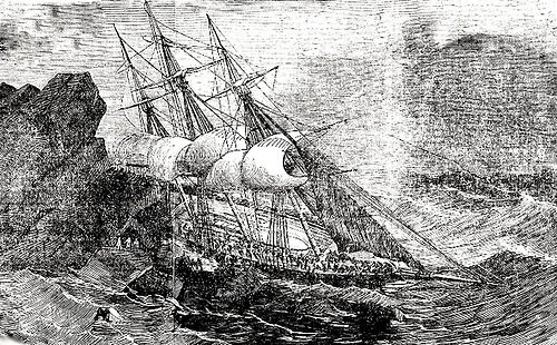 The newly-built emigrant ship Tayleur, bound from Liverpool to Australia in 1854, got no further than a tragic wrecking on Lambay