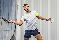 Amstelveen, Netherlands, 14  December, 2020, National Tennis Center, NTC, NK Indoor, National  Indoor Tennis Championships, Qualifying:  Thijmen Loof (NED) <br /> Photo: Henk Koster/tennisimages.com