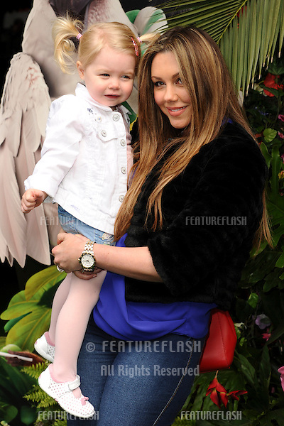 """Michelle Heaton and daughter<br /> arives for the """"Rio 2"""" Screening at the Vue cinema Leicester Square, London. 30/03/2014 Picture by: Steve Vas / Featureflash"""