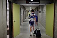 Kenny De Haes (BEL/Wanty-Groupe Gobert) checking for a post-race shower<br /> <br /> Heistse Pijl 2016