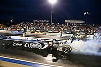 Jul. 19, 2013; Morrison, CO, USA: NHRA top fuel dragster driver Shawn Langdon during qualifying for the Mile High Nationals at Bandimere Speedway. Mandatory Credit: Mark J. Rebilas-