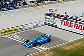 #10: Alex Palou, Chip Ganassi Racing Honda takes checkered flag.