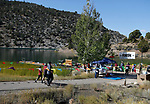 Participants approach the finish line of the 8th annual Take it to the Lake race at Cave Lake State Park, near Ely, Nev., on Saturday, Sept. 21, 2019.<br /> Photo by Cathleen Allison/Nevada Momentum