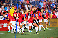San Diego, CA - Sunday July 30, 2017: USWNT during a 2017 Tournament of Nations match between the women's national teams of the United States (USA) and Brazil (BRA) at Qualcomm Stadium.