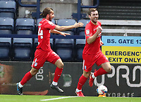 31st October 2020; Deepdale Stadium, Preston, Lancashire, England; English Football League Championship Football, Preston North End versus Birmingham City;  Gary Gardner of Birmingham City celebrates with team mate Ivan Sunjic after scoring to give his side a 1-2 lead after 85 minutes