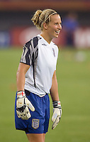 Rachel Brown. The USA defeated England, 3-0 during the quarterfinals of the FIFA Women's World Cup in Tianjin, China.  The USA defeated England, 3-0.