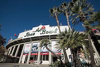 PASADENA, CA - January 1, 2014: The Stanford Cardinal vs the Michigan State Spartans in the 2014 Rose Bowl in Pasadena, California.
