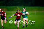 Scartaglen's Rebecca Kerin tussles with Clodagh Evans of MKL Gaels in the Kerry Ladies Division 2 county league final