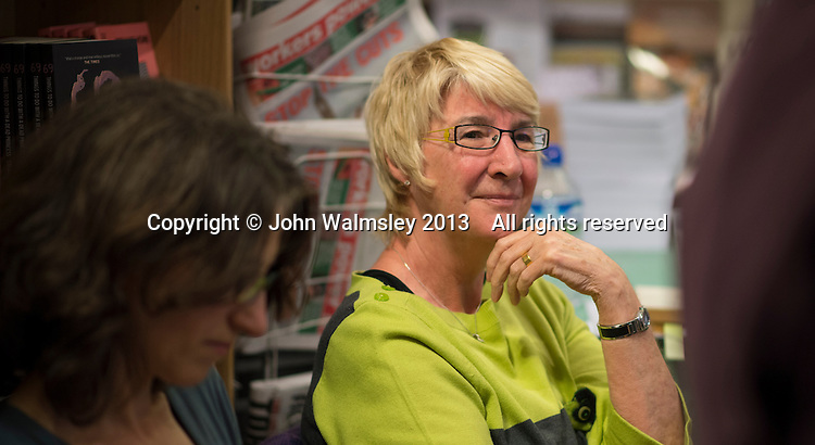 Lynn Brady, Risinghill, at the event to discuss Leila Berg's contribution to radical education and children's lives, Houseman's bookshop, London, 22nd May 2013.