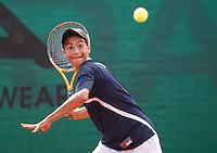 Tenis, World Championship U-14.USA Vs. Korea, boys.Rubin Noah Vs. Geon Ju Shon.Rubin Noah, returnes.Prostejov, 02.08.2010..foto: Srdjan Stevanovic/Starsportphoto ©